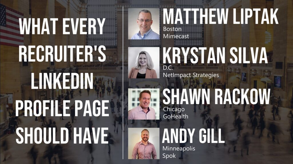 What Every Recruiter's LinkedIn Profile Page Should Have