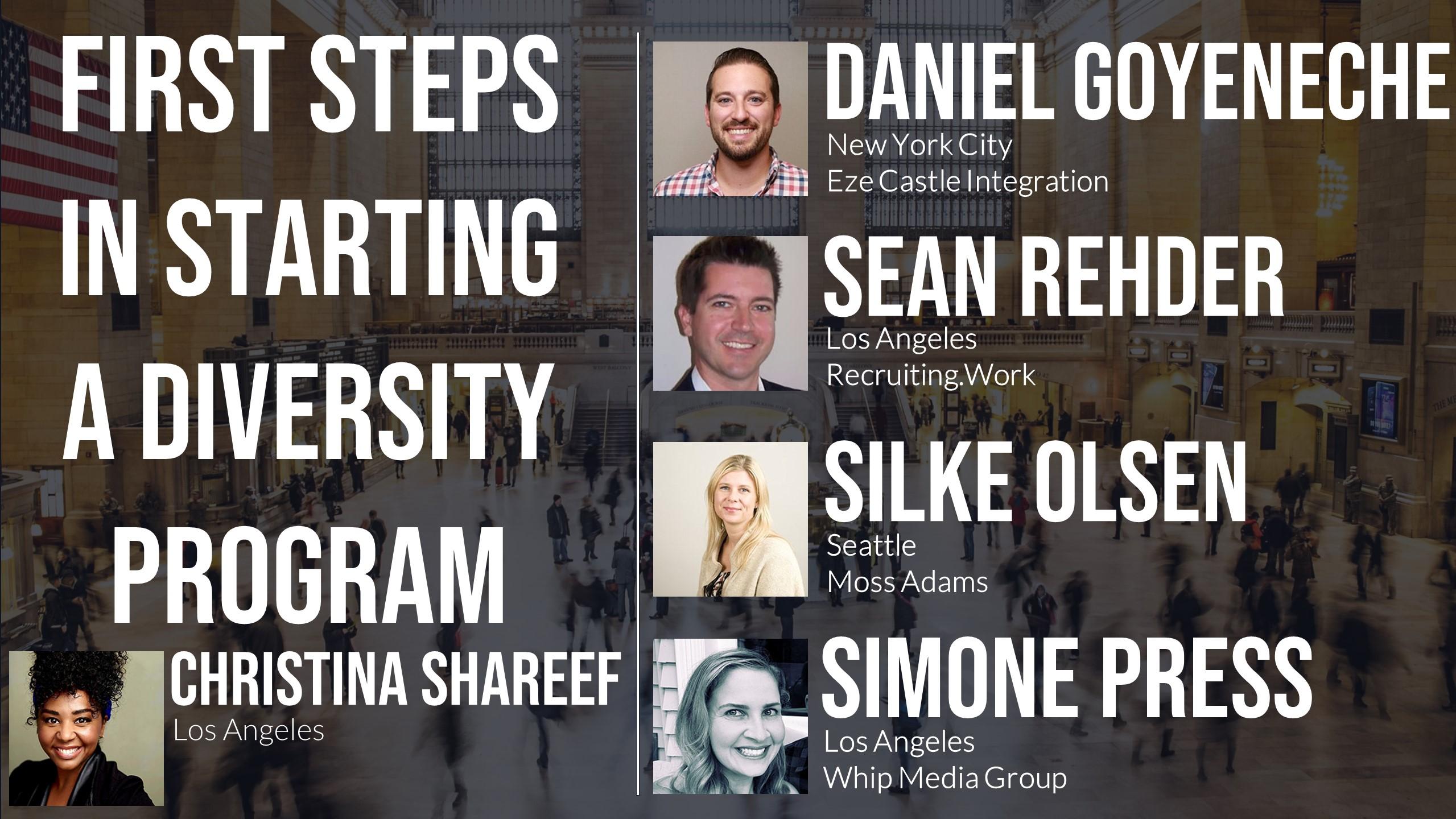 First Steps in Starting a Diversity Program