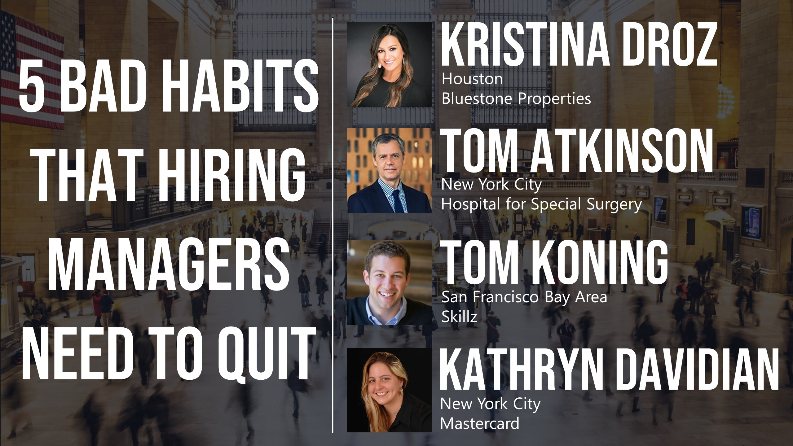 5 Bad Habits that Hiring Managers Need to Quit