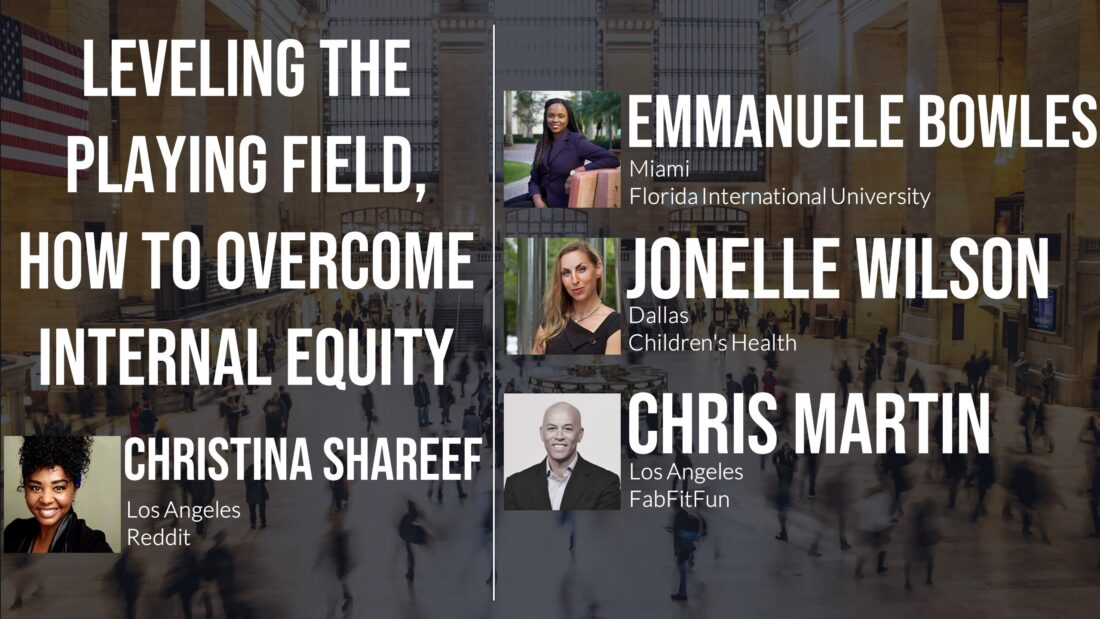 Diversity Series, Leveling The Playing Field - How to Overcome Internal Equity