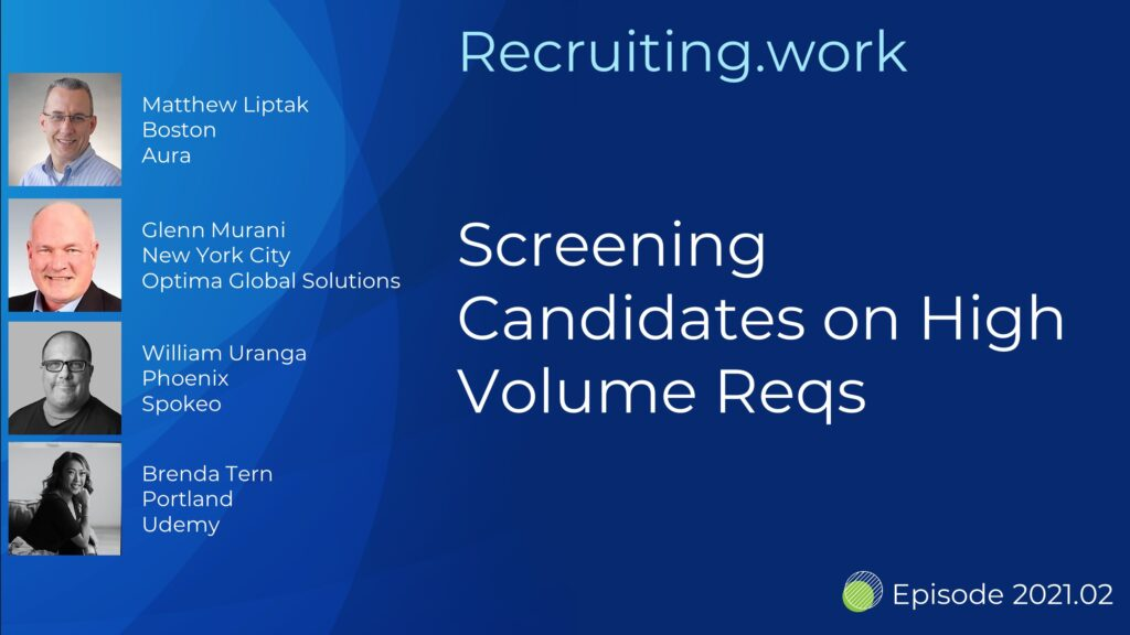 Pipeline Management: Screening Candidates on High Volume Reqs